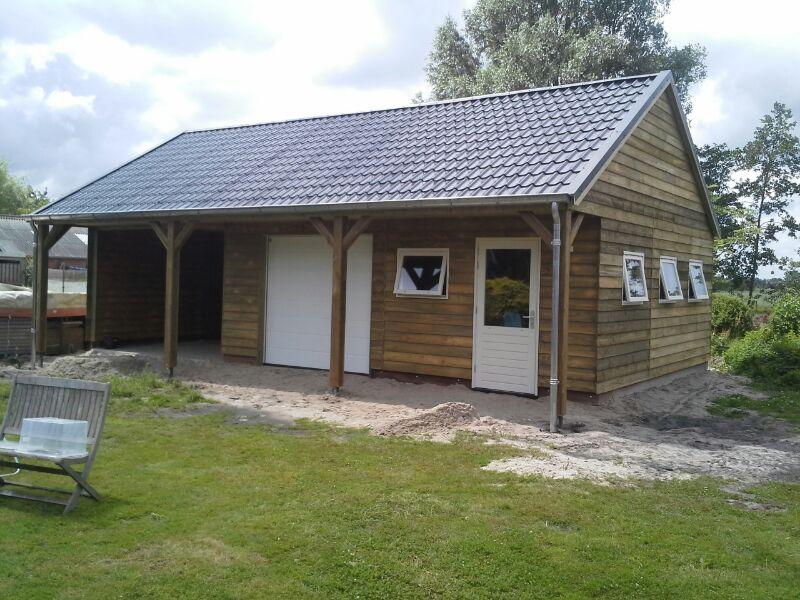 Garage Met Veranda : Houten garage van olja houtbouw professioneel en deskundig