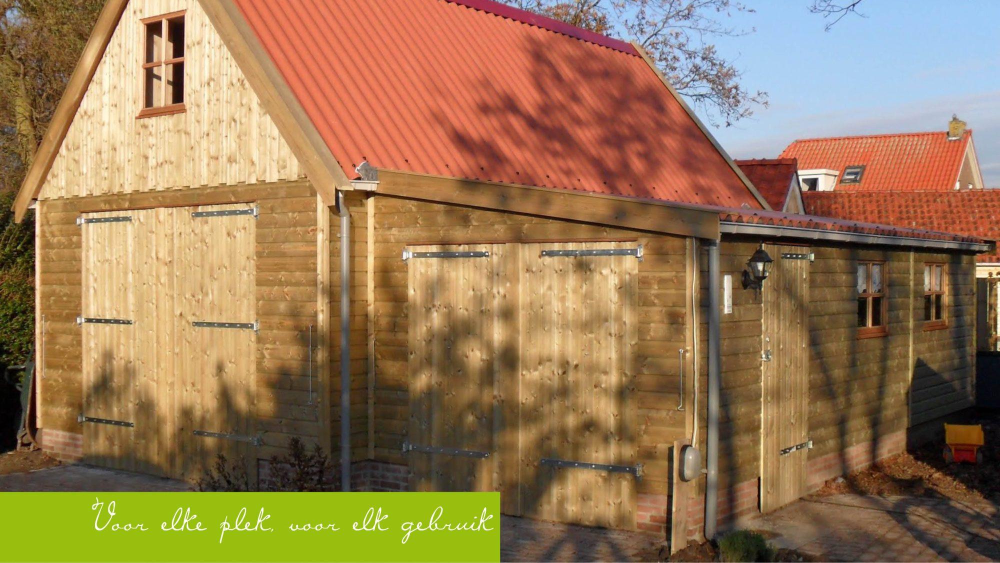 Houten Garage Prijs : Houten garage olja buitenleven