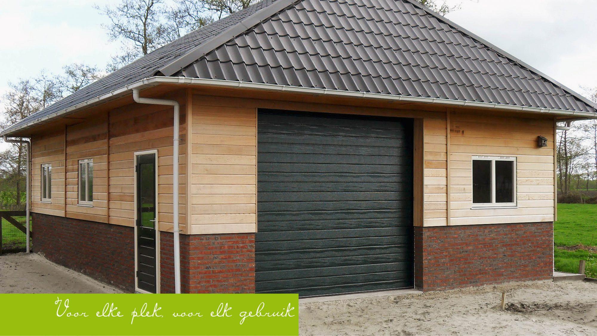 Houten Garage Prijs : Gemetselde borstwering houten garage olja buitenleven